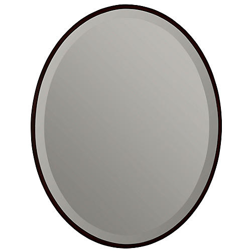 Hatton Wall Mirror, Mocha