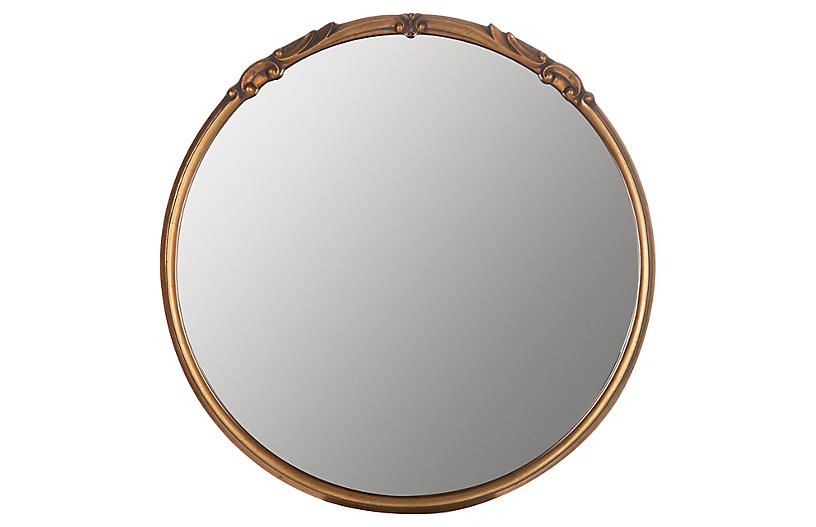 Melisande Wall Mirror, Gold
