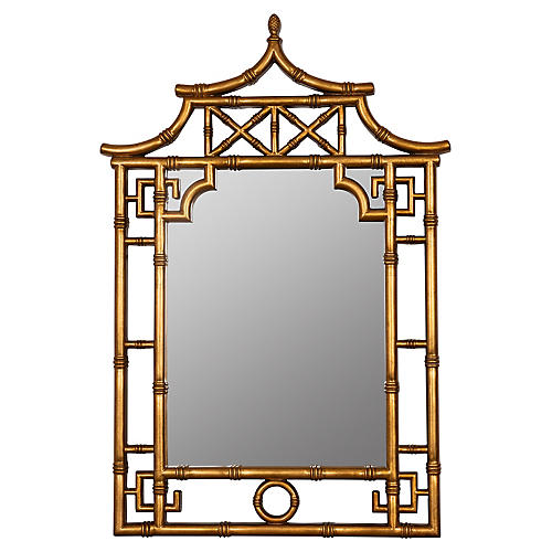 Hyson Wall Mirror, Gold