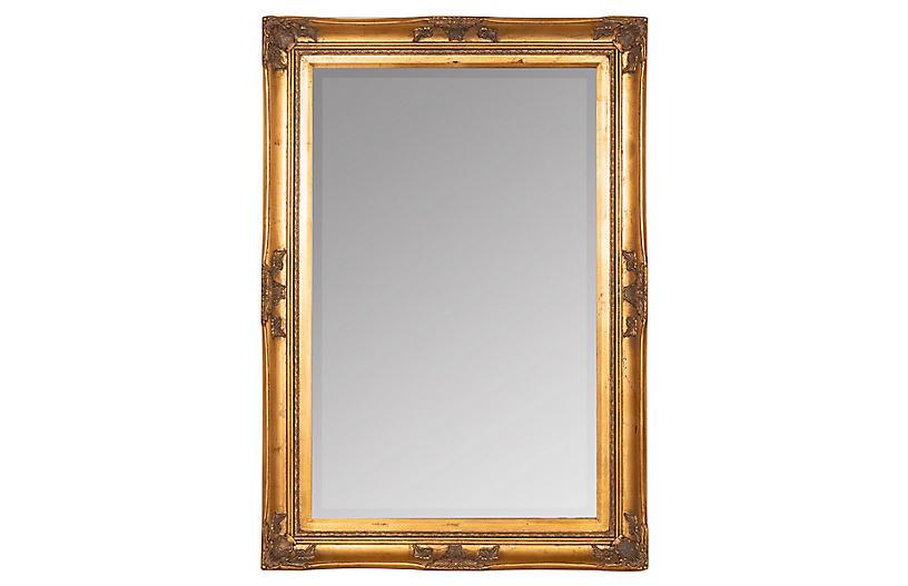 Brice Wall Mirror, Gold Finish