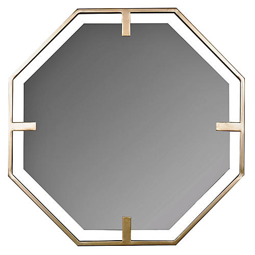 Timothy Wall Mirror, Gold Finish