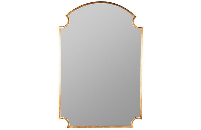Lauren Wall Mirror, Gold Leaf