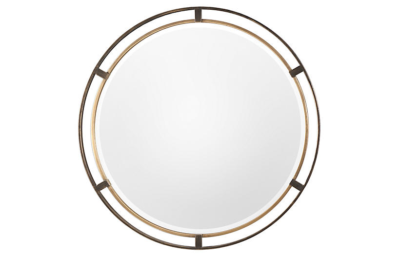 Carrizo Wall Mirror, Bronze/Gold