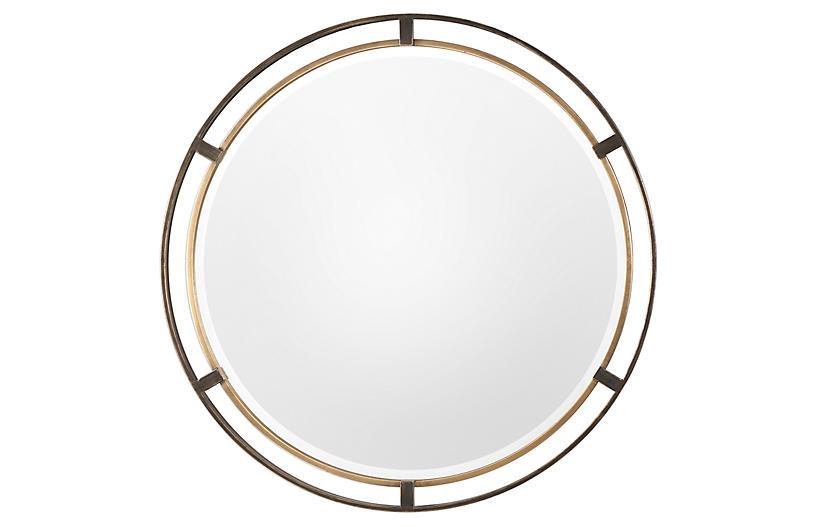 Carrizo Wall Mirror, Bronze/Gold