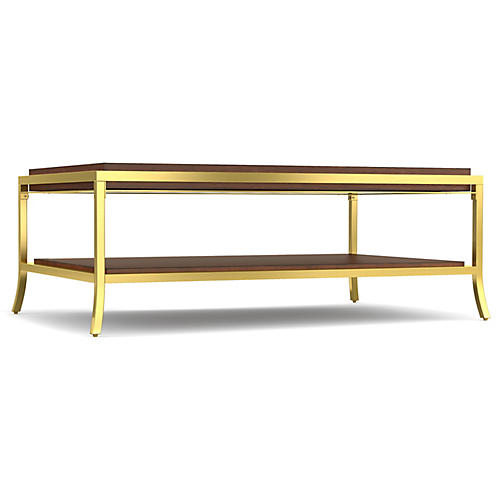 Horizon Coffee Table, Java/Gold