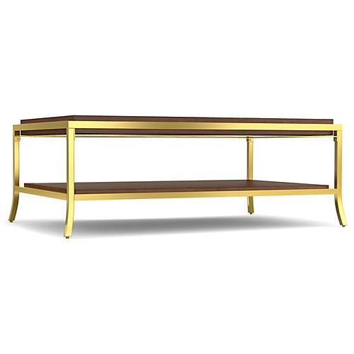 Horizon Coffee Table, Java/Gold