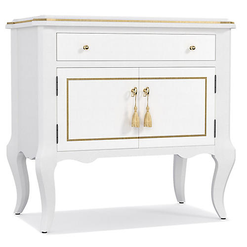 Mystique Nightstand, White