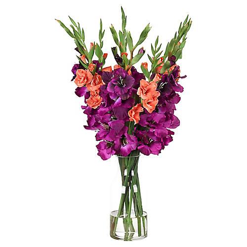 """20"""" Gladiola in Vase, Faux"""