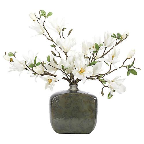 "31"" Magnolias in Vase, Faux"