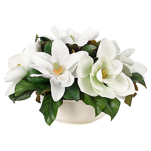 Magnolia in Bowl, Faux