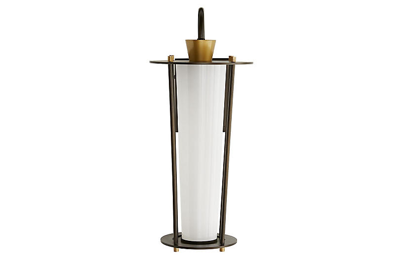 Sorel Outdoor Sconce, Aged Brass