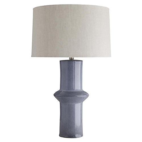 Alistair Table Lamp, Sterling Blue