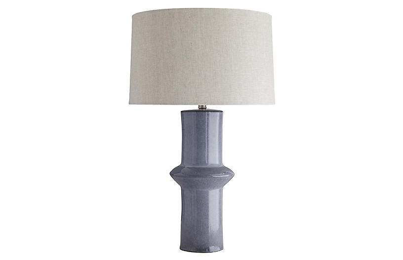 Alistair Table Lamp, Sterling Blue
