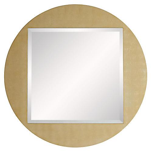 Sasha Wall Mirror, Gold Leaf