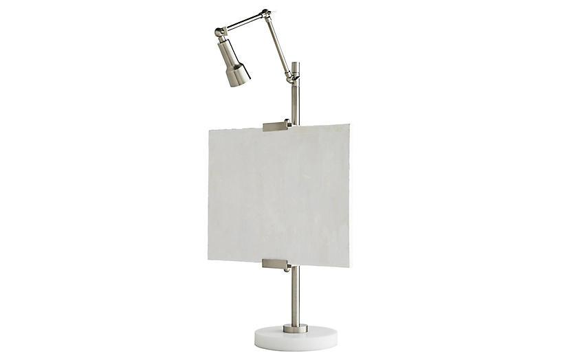 Aja Table Lamp, Vintage Silver