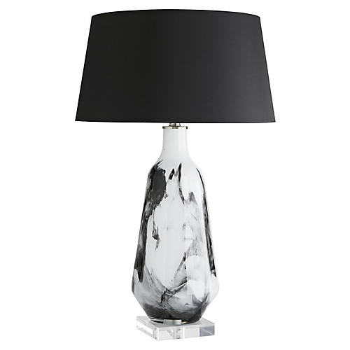 Poe Table Lamp, Black