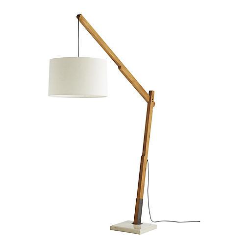 Sarsa Floor Lamp, Teak