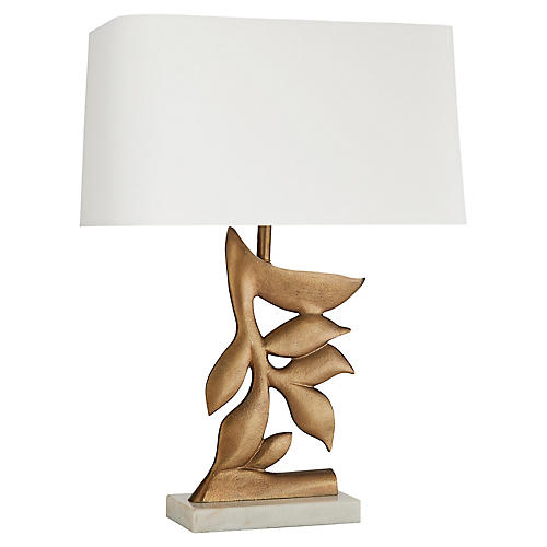 Thatcher Table Lamp, Antiqued Brass