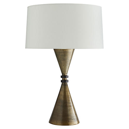Alex Table Lamp, Antiqued Brass