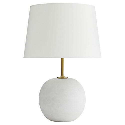 Colton Table Lamp, White