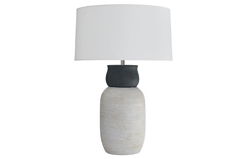 Ansley Table Lamp, Whitewashed