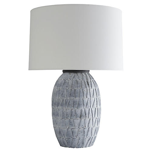 Archibold Table Lamp, Atlantic Blue