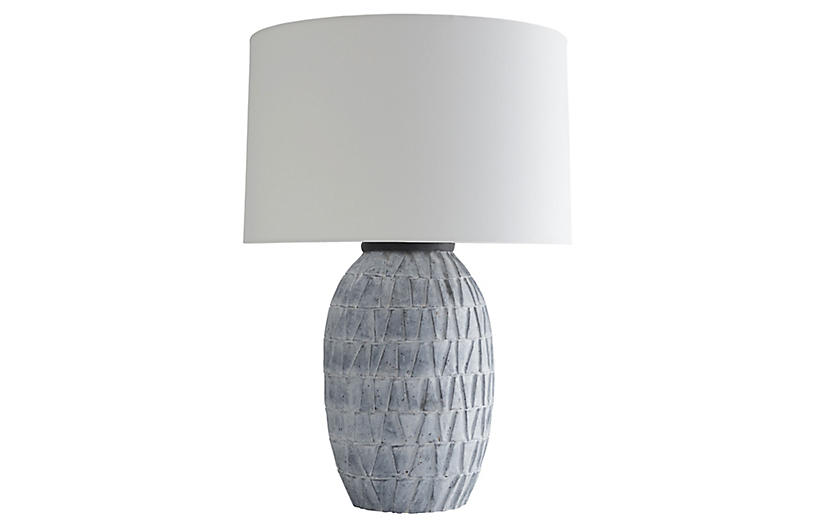 Archibold Table Lamp, Atlantic Blue