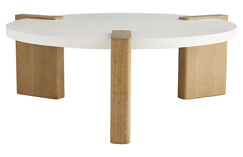 Forrest cocktail table, White/Natural