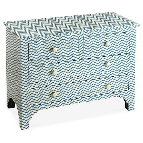 Pescow Dresser, Blue/Ivory