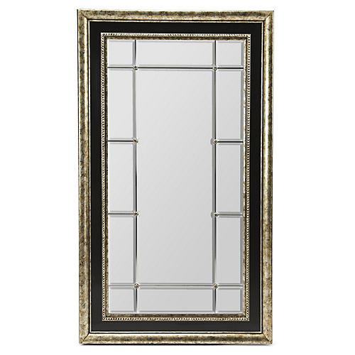 Highview Floor Mirror, Aged Ebony