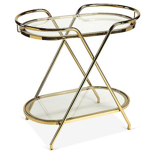 Loretta Bar Cart, Gold