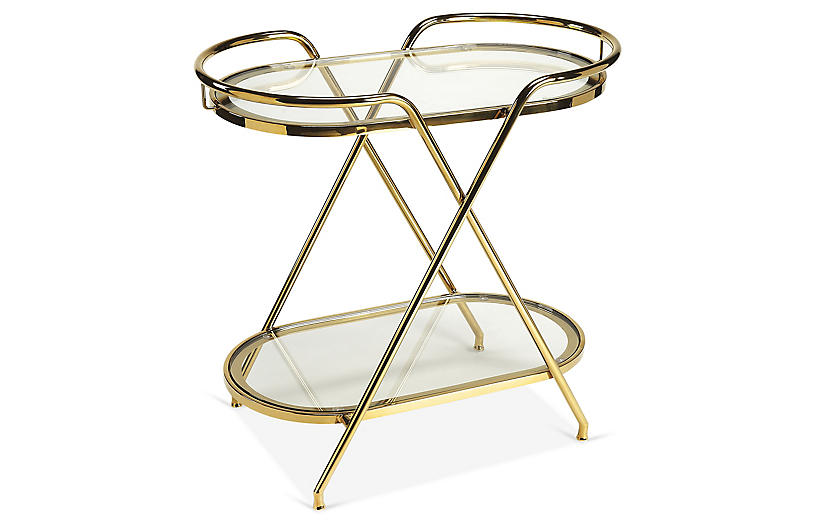 Loretta Bar Cart, Gold