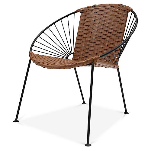 Ixtapa J Lounge Chair, Tobacco Leather