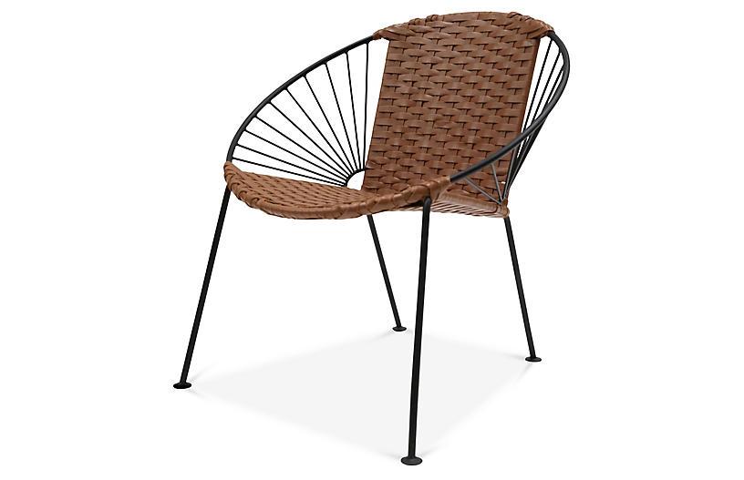 Ixtapa J Lounge Chair, Tobacco Leather
