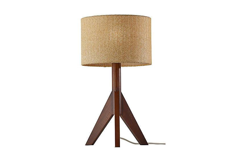 Quinton Table Lamp, Walnut