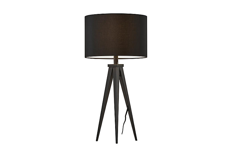 Dayle Tripod Table Lamp, Black