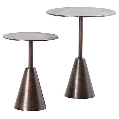 S/2 Frisco Side Tables, Antique Rust