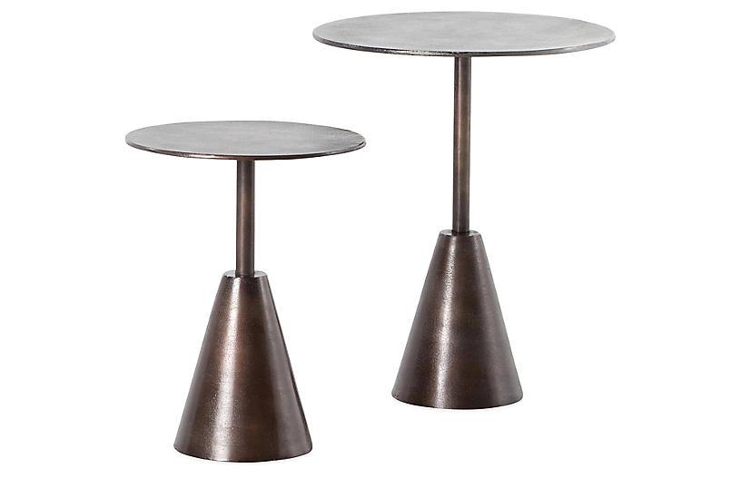 S/2 Parker Side Tables, Antique Rust