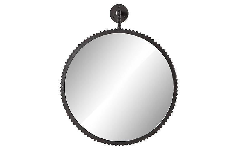Luis Large Mirror, Aged Bronze