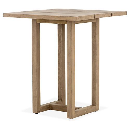 Stapleton Outdoor Bar Table, Brown