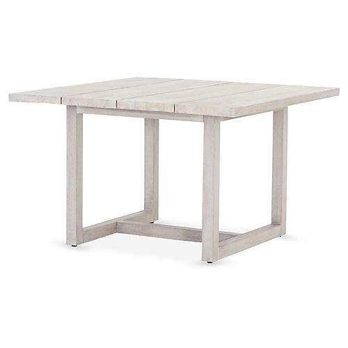 Stapleton Outdoor Dining Table, Gray