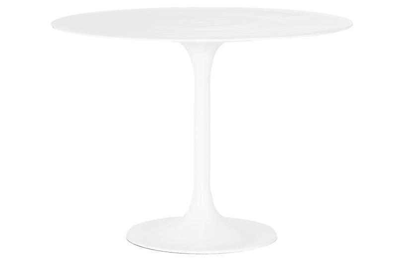 Cayla Outdoor Bistro Table, White
