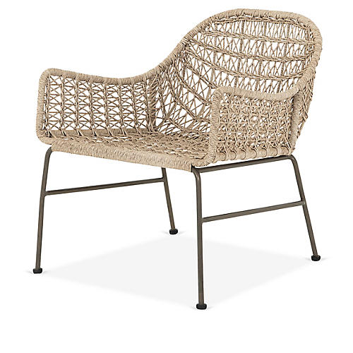 Bandera Outdoor Club Chair, Tan