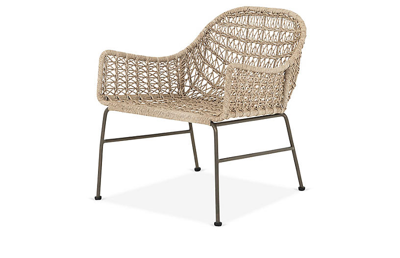 Dylan Outdoor Club Chair, Tan