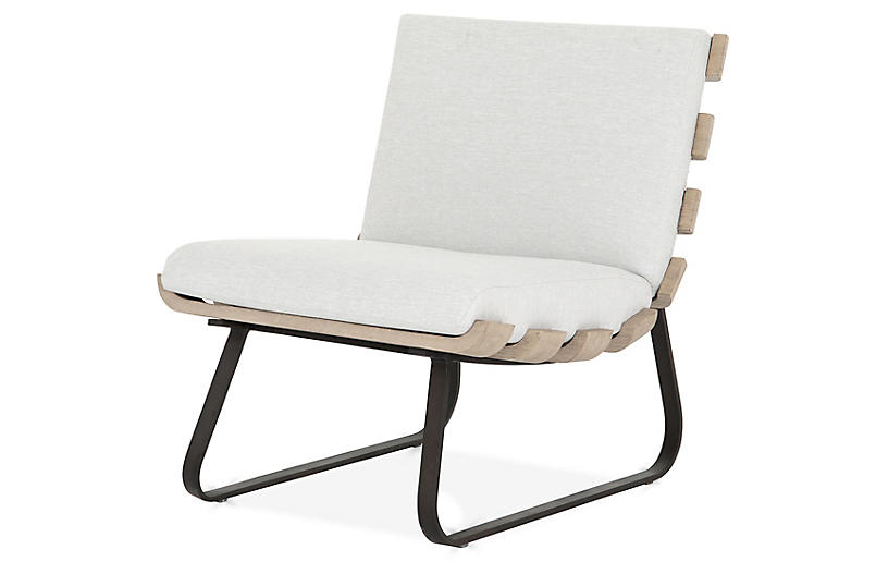 Hugo Outdoor Dining Chair, Stone Gray