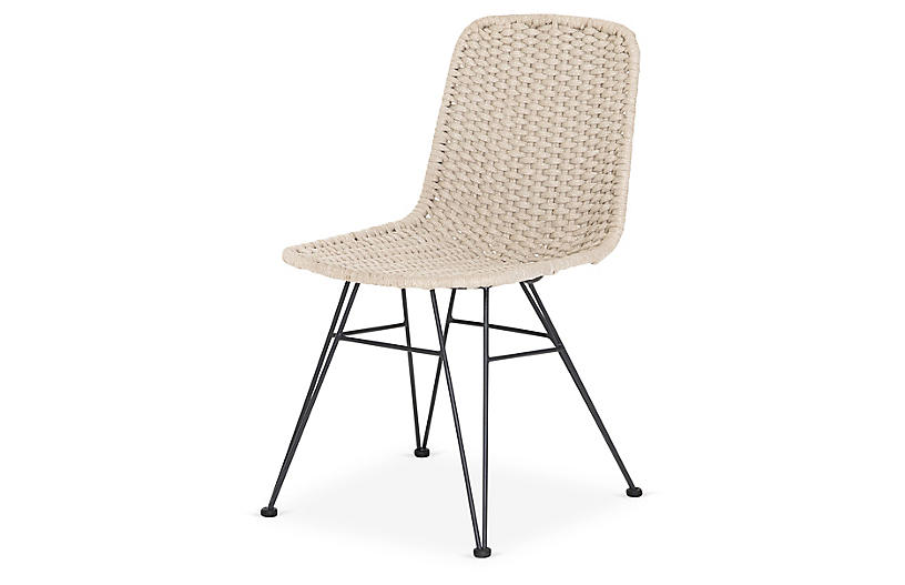Lennox Outdoor Dining Chair, Natural