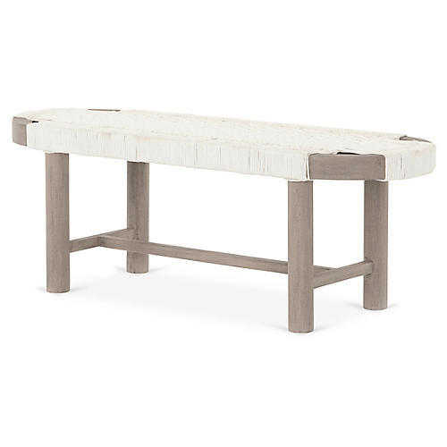 Sumner Outdoor Bench, Weathered Gray
