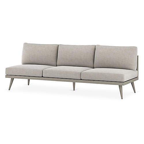 """Tilly 90"""" Sofa, Gray/Stone Gray"""