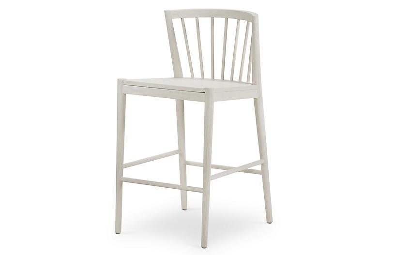 Malik Counter Stool, Off-White