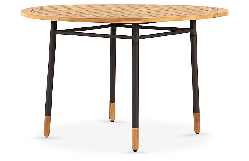 Shea Outdoor Teak Dining Table, Natural Teak